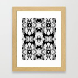 Tie Dye Blacks Framed Art Print