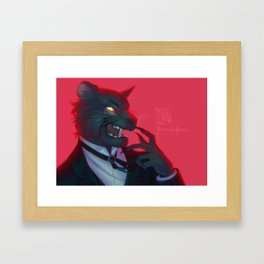 Claude Faustus: Panther Crossover Framed Art Print
