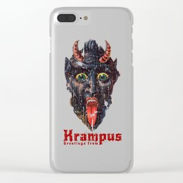 Gruss Vom Krampus Greetings From Christmas Demon Clear iPhone Case