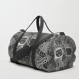 Lace Skull Duffle Bag