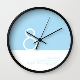 SNOWMAN - FontLove - CHRISTMAS EDITION Wall Clock