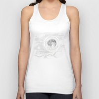 clouds Tank Tops featuring Moon Glow by brenda erickson