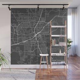 Huntsville Map, USA - Gray Wall Mural