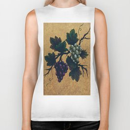 """Tuscan grapes"" Biker Tank"