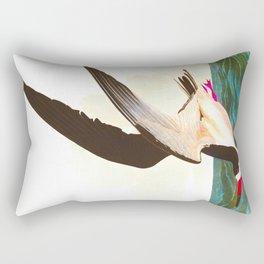 Black Skimmer or Shearwater John James Audubon Vintage Scientific Hand Drawn Illustration Birds Rectangular Pillow