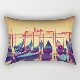 Colorful Gondolas Canvas Wall Art Rectangular Pillow