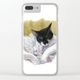 Snuggling cats Clear iPhone Case