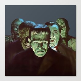 Famous Monsters Gang Canvas Print