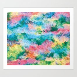Lively color abstract Art Print