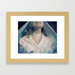 Ice Queen Choker Framed Art Print