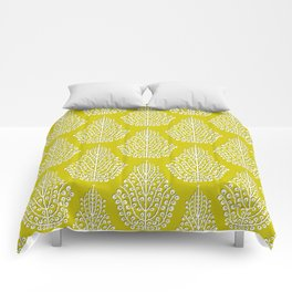 SPIRIT lime white Comforters
