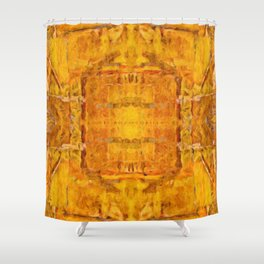 Gold Pattern no 1 Shower Curtain
