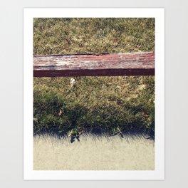 Ground // Grass // Grain Art Print