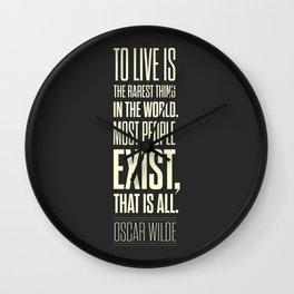 Lab No. 4 - Oscar Wilde Motivational inspirational typography print Poster Wall Clock