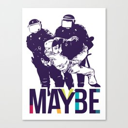 Maybe - mod. POLICE t-shirt uomo-donna Canvas Print