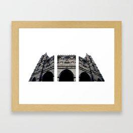 notre-dame basilica Framed Art Print