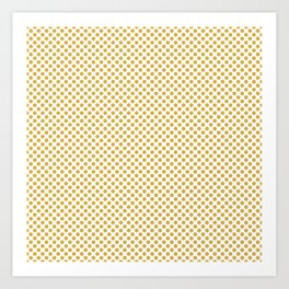 Spicy Mustard Polka Dots Art Print