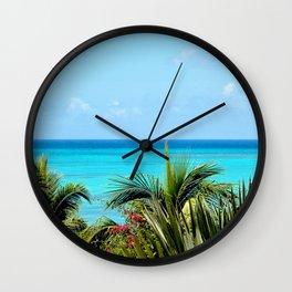 Wild Exotic Blue Paradise -Indian Ocean Seascape Wall Clock