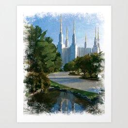 Washington D.C. LDS Temple Art Print