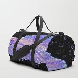 Iridescent Purple Fighting Fish Duffle Bag