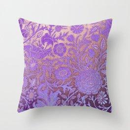 Wiiliam Morris revamped, art nouveau pattern Throw Pillow