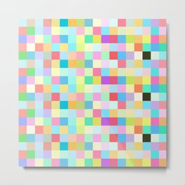Mixed colorful pastel squares Metal Print