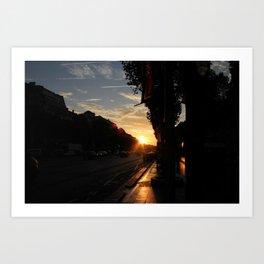 Sunrise in Paris (1) Art Print