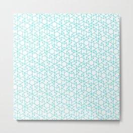 Jali Fusion - Blue Metal Print
