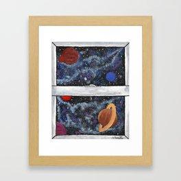 Window To The Galaxy Framed Art Print