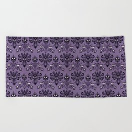 The Haunted Mansion Beach Towel