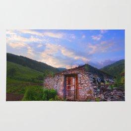 House in a field in the mountains in Armenia (Վանգ ուր է՞) Rug