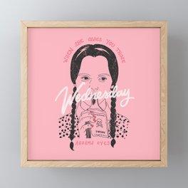 Wednesday Addams Eyes Framed Mini Art Print