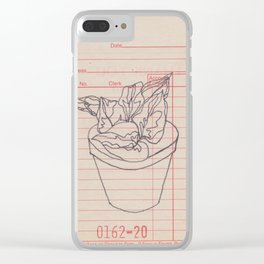 sales slip plant Clear iPhone Case