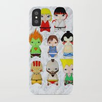 street fighter iPhone & iPod Cases featuring A Boy - Street fighter by Christophe Chiozzi