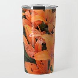 Orange Lillies Travel Mug