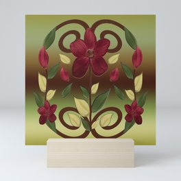 Scarlet Flora Mini Art Print