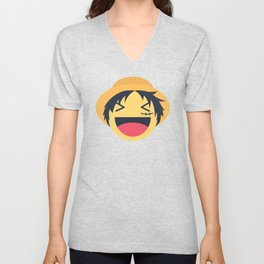 Monkey D. Luffy Emoji Design Unisex V-Neck
