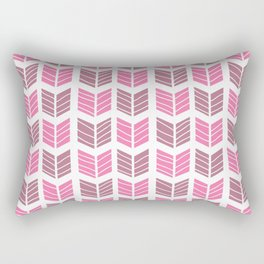 Modern Tribal Aztec Chevrons – Mulberry Pink and Plum Violet Rectangular Pillow