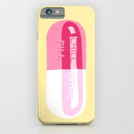 Chill Pill Yellow iPhone Case