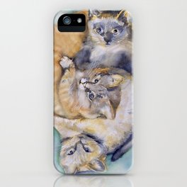 Cuddle Cats iPhone Case