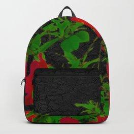 Dark Pop Art Floral Poster Backpack