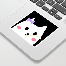 cat chewing gum-24 Sticker