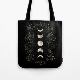 Moonlight Garden - Olive Green Tote Bag