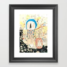 """My life is my message.""  Framed Art Print"