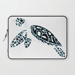 Calligram Sea Turtle Laptop Sleeve
