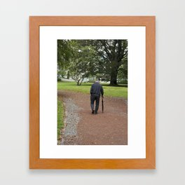 A walk in the park Framed Art Print