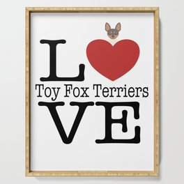 Love Cute Toy Fox Terrier Serving Tray
