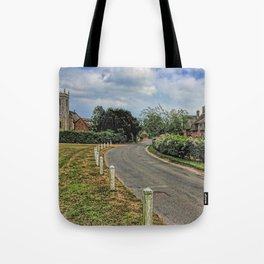 Woodbastwick village and church Tote Bag