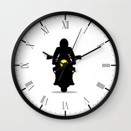 Motorcycle Silhouette Wall Clock