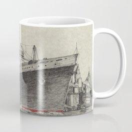 Steam Ship, New York Harbor Coffee Mug